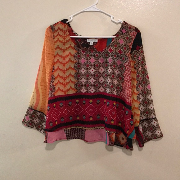 Anthropologie Tops - Patrons of Peace Boho Layered Blouse
